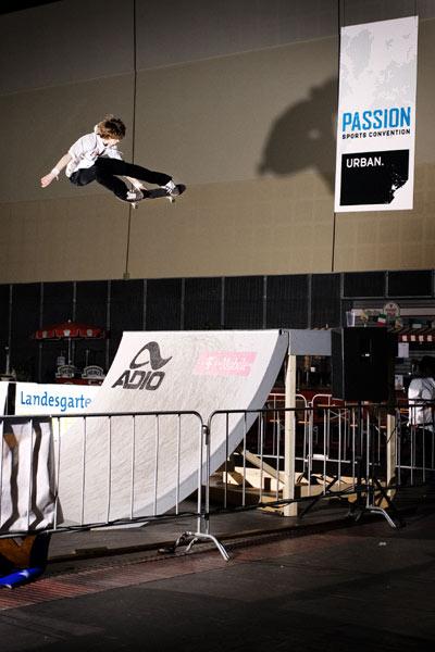 Skateboarden aus Passion - auf der ersten Passion Sports Convention.  Foto: Eric Mirbach