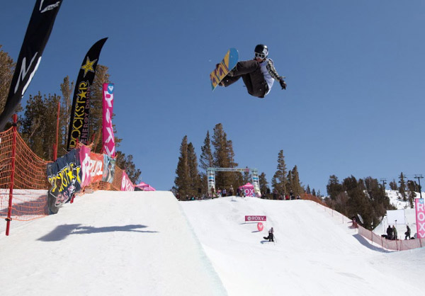 Kelly Clark beim Roxy Chicken Jam 2010 in Mammoth.  Foto: Peter Morning