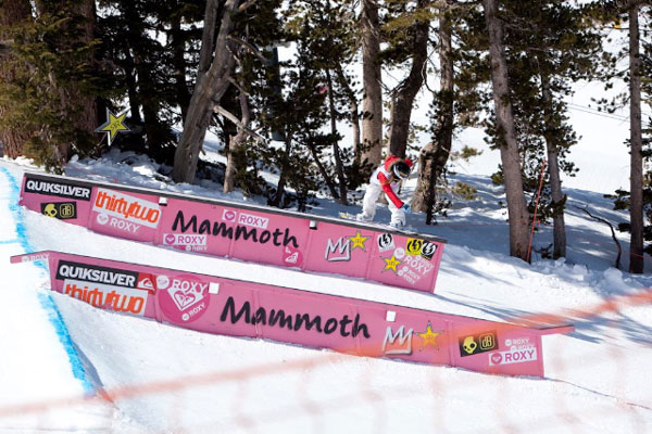 Jamie Anderson beim Roxy Chicken Jam 2010 in Mammoth.  Foto: Peter Morning