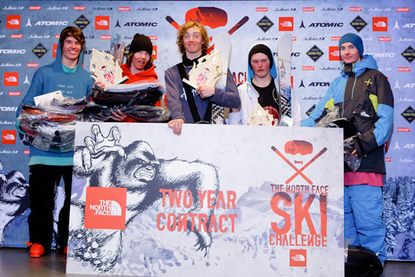 From left: Paul Mikkonen (4th), Robin Jenssen (3rd), Lukas StŒl Madison (1st), MŒrten Grape (2nd), Tuomas Vaalisto (5th) Foto: Rami Lappalainen