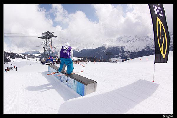 Elisabeth Gram: Gewinnerin bei den Ladies beim CaD Freeski Finale 2010 in Arosa.  Foto: Veranstalter
