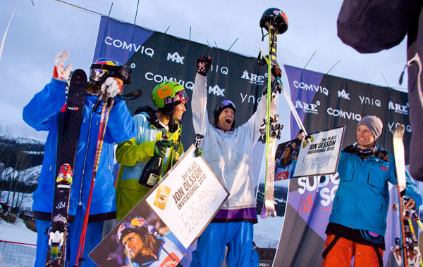 Podium der Gewinner de JOI Big Air 2010.  Foto: Shay Whilliams