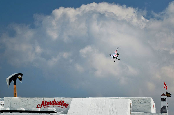 Nicolas Vuignier beim Nine Knights Big Air Contest.  Foto: Klaus Polzer