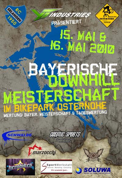 Flyer: Downhillmeisterschaften Osterhohe 2010.  Foto: Veranstalter