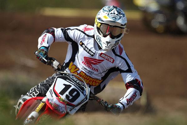 Dennis Baudrexl (Honda / Deutschland) auf seiner Maschine.  Foto: Bild13 Sportpressefotos