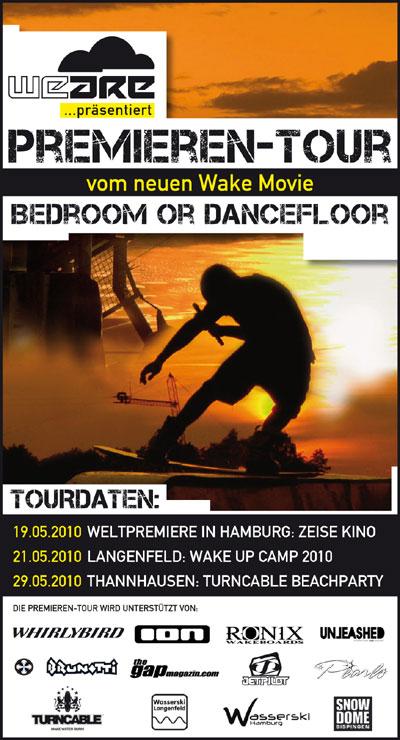 Flyer Premieren Tour Bedroom or Dancefloor Foto: Bedroom or Dancefloor Team