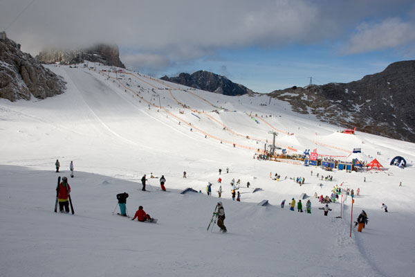 Horsefeathers Superpark am Dachstein.  Foto: QParks