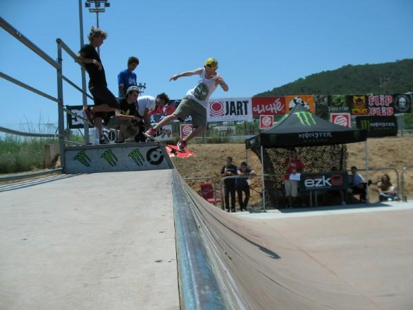 Miniramp Skatecontest auf Ibiza 2010.  Foto: www.ibizawebcam.com