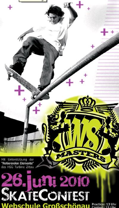 WS-Masters Skatekontest an der Webschule Grossschoenau.  Foto: Veranstalter