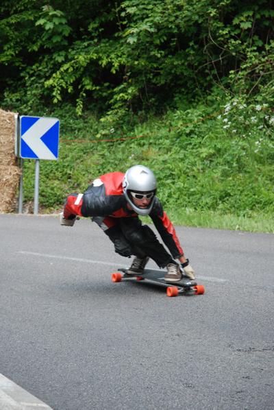 Longboard Downhill Europameisterschaft INSUL Cup 2010.  Foto: Veranstalter