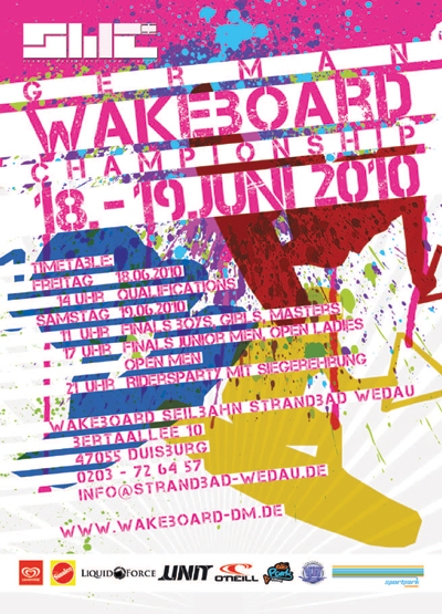 Flyer zur Deutschen Wakeboard Meisterschaft 2010.  Foto: Veranstalter