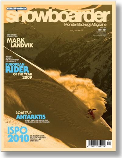 Cover des Snowboarder MBM Magazins.  Foto: b&d Verlag GmbH 2010