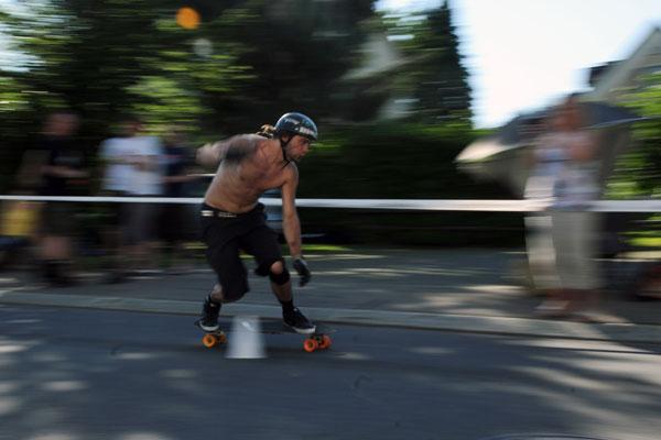 Dominik Kowalski im Tight-Slalom Halbfinale.  Foto: Veranstalter