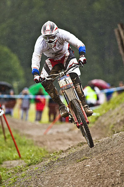 UCI Mountainbike Downhill World Cup in Leogang 2010.  Foto: Victor Lucas