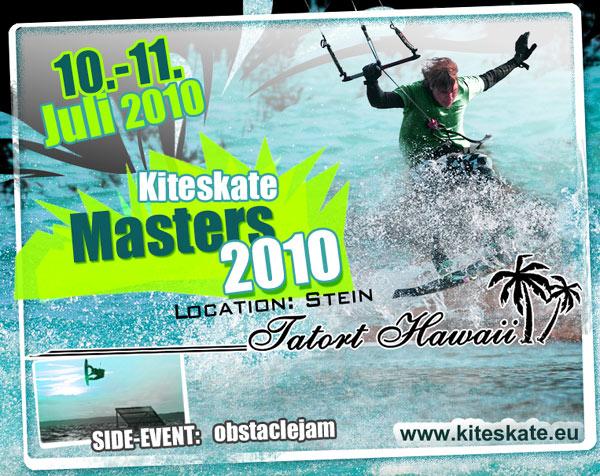 Flyer: Kiteskate Masters 2010.  Foto: Veranstalter