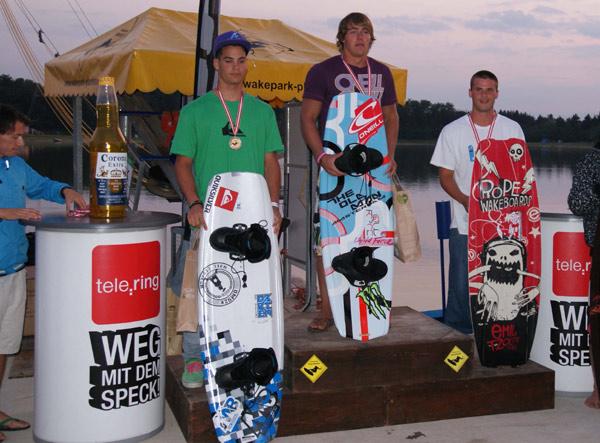Die Gewinner am des Wakeboard Cups am Planksee 2010.  Foto: Veranstalter