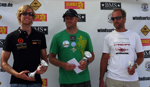 Die Sieger des Deutschen Windsurf Cups 2010 in Boltenhagen.  Foto: Katja Bürgelt