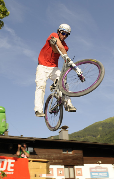 Marzocchi Airstrike Slopestyle Contest 2010 in Saalbach Hinterglemm.  Foto: Freeride Festival/P.Musch