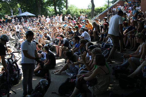 Impressionen von den BMX Masters 2010 in Köln.  Foto: Lars Homann