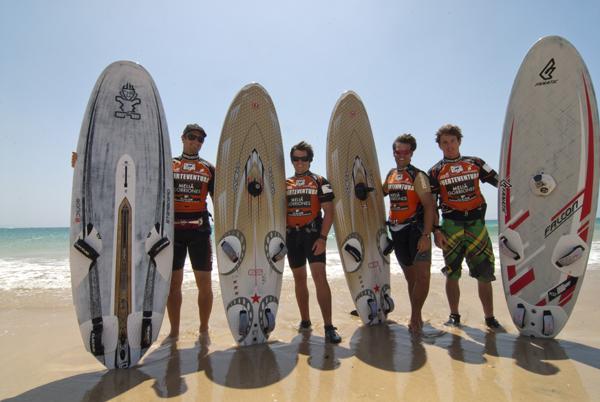 Team Austria beim Grand Slam 2010 auf Fuerteventura.  Foto: fuerteventura-worldcup.org/Kerstin Reiger