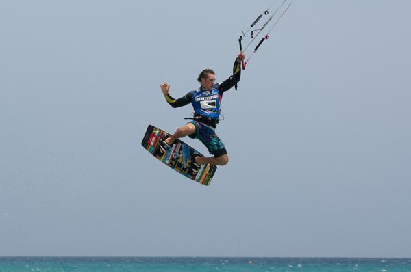 Kiteboard-Worldcup 2010 auf Fuerteventura.  Foto: Claus Döpelheuer