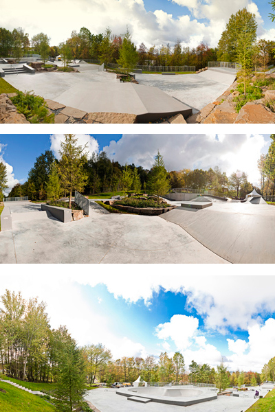 Panorama Skatepark Hemer.  Fotos: Veranstalter