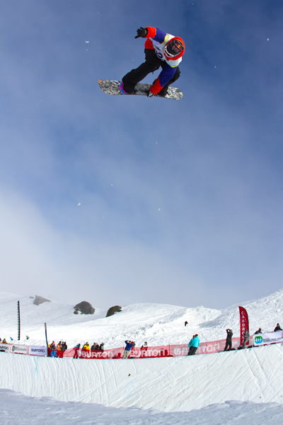 IPod Burton New Zealand Open Halfpipe Finals.  Foto: Pablo Azocar