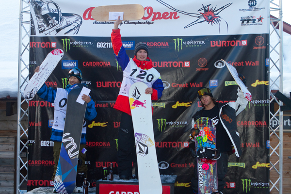 Burton NZ Open Men's Podium Halfpipe Finals.  Foto: Pablo Azocar