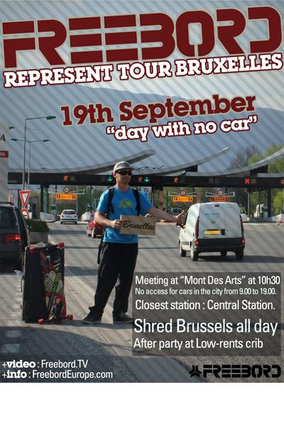 Freebord Europe Represent Tour Brüssel.  Foto: Freebord Belgium