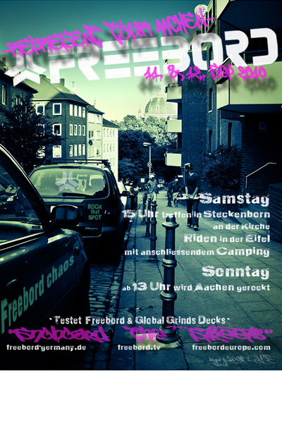 Freebord Represent Aachen.  Grafik: Freebord Germany
