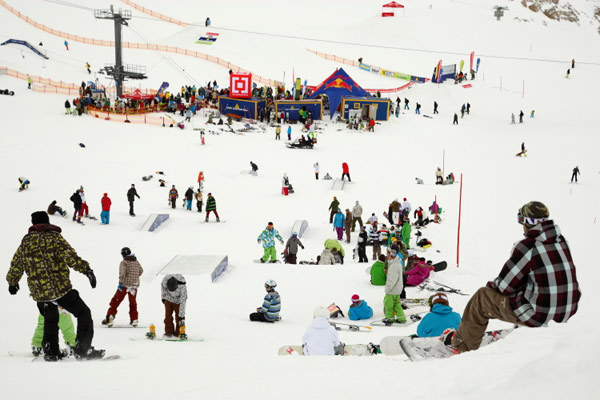 Horsefeathers Pleasure Jam 210 am Dachstein.  Foto: QParks Paco