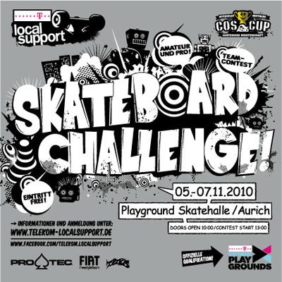 Telekom Local Support Skateboard Challenge 2010.  Flyer: Veranstalter