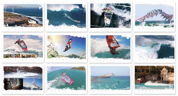 Neuer Windsurf Kalender für 2011.  Foto: