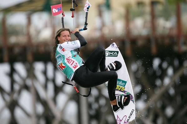Kristin Boese beim Kitesurf World Cup in St. Peter Ording Foto: Veranstalter