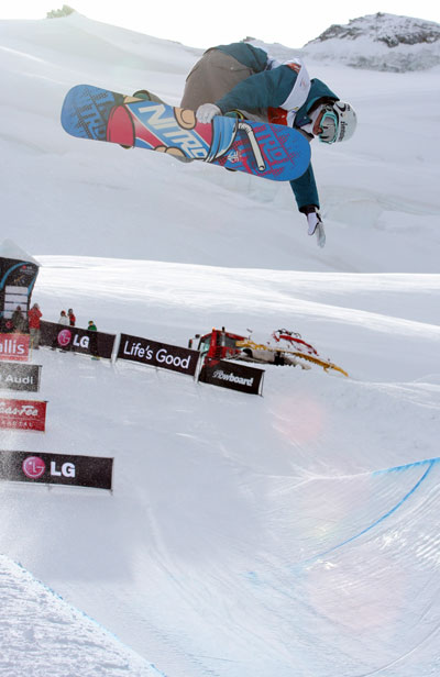 SVD Nachwuchs beim Halfpipe-Weltcup in Saas-Fee.  Foto: FIS – Oliver Kraus