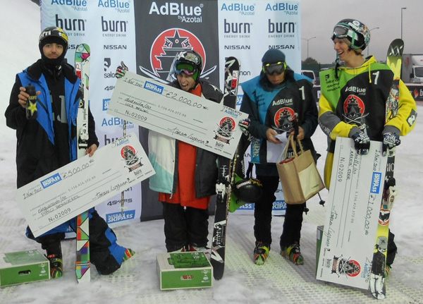 Luka Melloni gewann den Shogun Freeski Big Air Contest in Italien.
