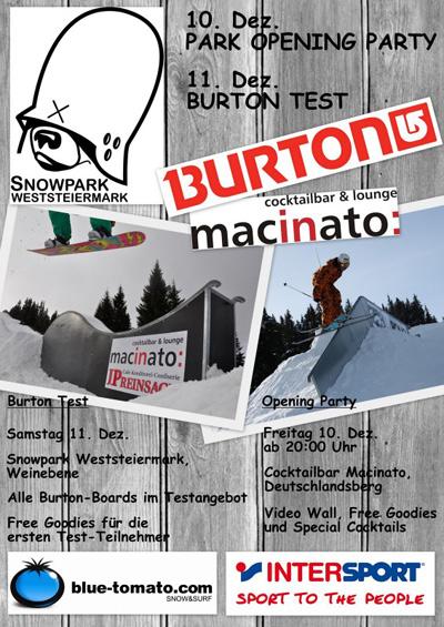 Opening Party im Snowpark Weststeiermark.  Foto: Veranstalter