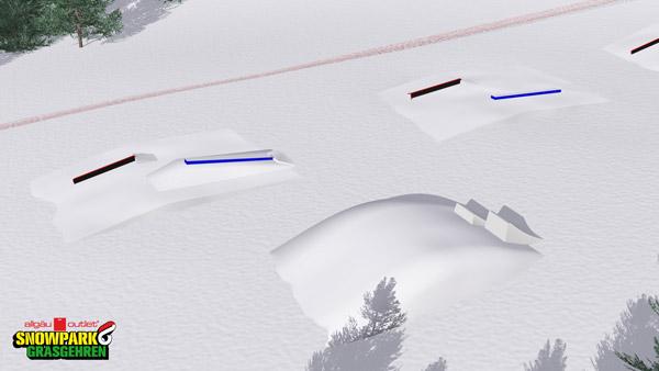 3D Parkplan des brandneuen Allgaeu Outlet Snowpark Grasgehren.  Foto: Veranstalter