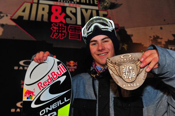 Gewinner Sebastian Toutant Oakley Shaun White Air & Style Beijing.  Foto: /Simon Lim