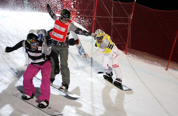 Snowboard Cross beim LG Snowboard FIS Weltcup 2011.   Foto: FIS – Oliver Kraus