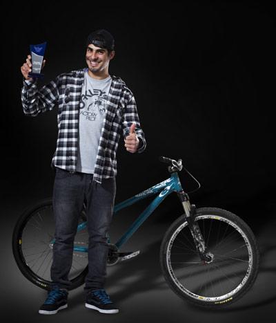 Amir Kabbani ist Mountainbiker des Jahres 2010.  Foto: Nils Wilbert