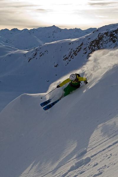 Big Mountain Hochfügen – Freeride Qualifier World Tour.  Foto: Oskar Enander