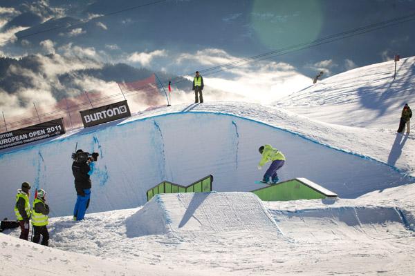 Burton European Open 2011 in Laax.   Foto: Lämmerhirt