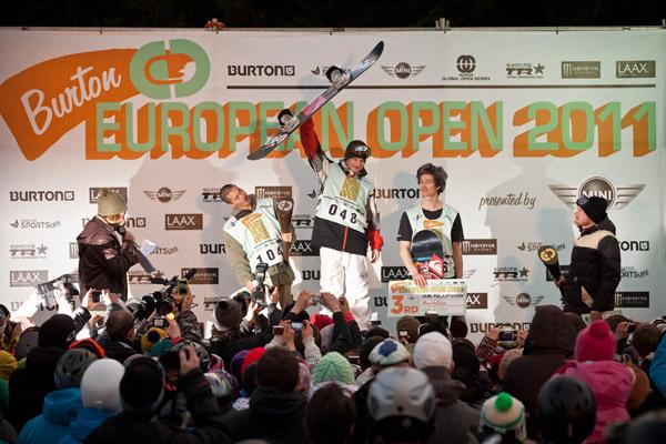 Die Sieger der BEO in Laax 2011.  Foto: Laemmerhirt
