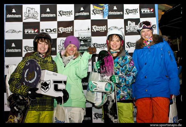 Podium Ladies: s (BEL, 2. Pl.), Elke Cogghe (BEL, 1. Pl.), Annelies Vermeulen (SUI, 3. Pl) Pia Gärtner (GER, 4. Pl.).  Lennart Ritscher