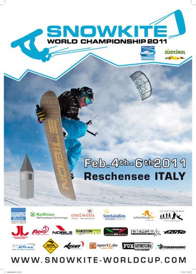 Plakat zum Snowkite World Championship 2011.