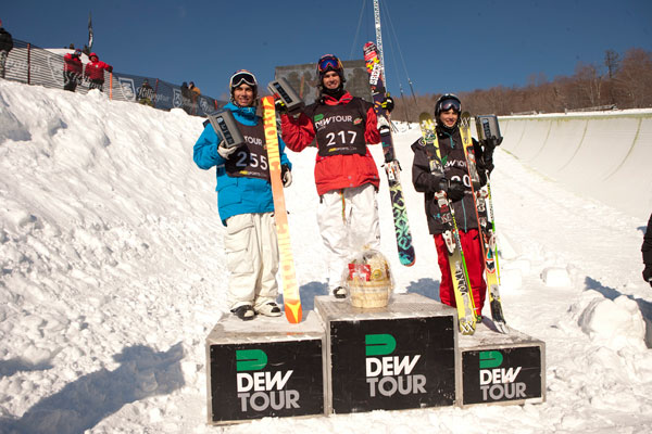 Die Winner der Dew Freeski Tour in Killington 2011.   Foto: Alli sports