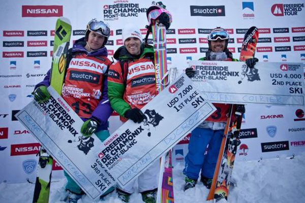 Die Winner der Freeride World Tour 2011 in Chamonix.