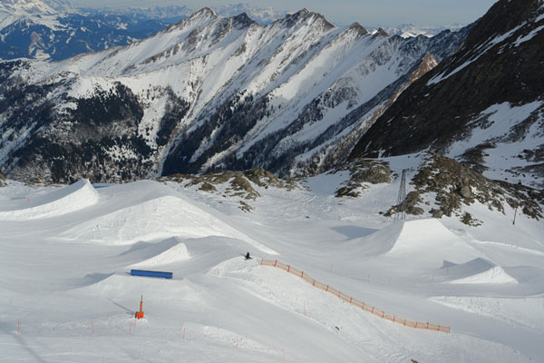 Kitzsteinhorn Snowpark.  Foto: Qparks