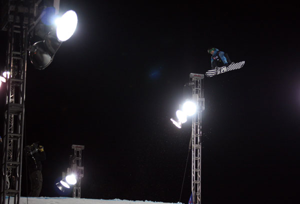 Rocco van Straten in Action beim Snowboard World Cup 2011 in Denver.  Foto: FIS/ Oliver Kraus